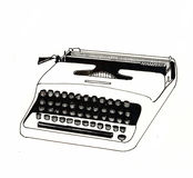 Typewriter white Stock Photos