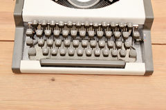 Typewriter on wood Royalty Free Stock Photography