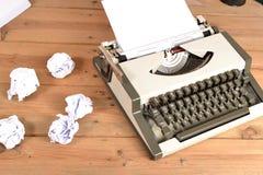 Typewriter on wood Stock Image