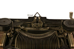 Typewriter With The Word Blog Stock Image