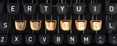 Typewriter with WRITER buttons Royalty Free Stock Photos