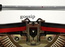 Typewriter writing gossip Royalty Free Stock Images