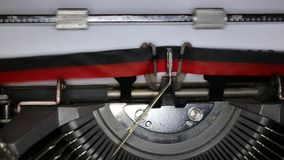 TYPEWRITER with written Possible in the paper stock footage