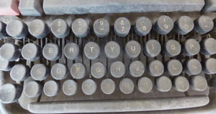 Typewriting keyboard covered by dust. Some typewriting keys. Retro. Vintage. Typewriting keyboard covered by dust Stock Images