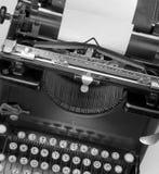 Typewriting machine. Top view of antique typewriting machine Stock Images