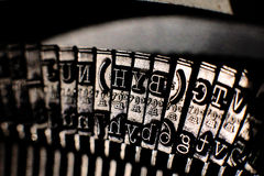Typewritter keys, close-up view Stock Images