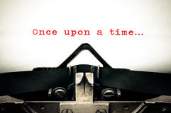 "Typewritter with the phrase ""Once Upon A Time"" Royalty Free Stock Photo"
