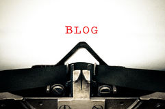 Typewritter with the word blog Royalty Free Stock Photography