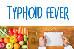TYPHOID FEVER Medical Concept , Typhoid positive , Composition o Stock Photography