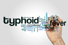 Typhoid fever word cloud concept Stock Photo
