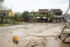 Typhoon aftermath Stock Photography