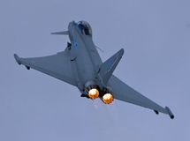 Typhoon Climb out. Typhoon climbs out of Waddington Stock Photography