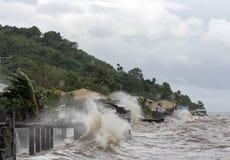 Typhoon Haiyan's hits Philippines stock photography