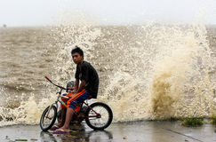 Typhoon Haiyan's hits Philippines Stock Photo