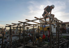 Typhoon Haiyan survivors Royalty Free Stock Photo