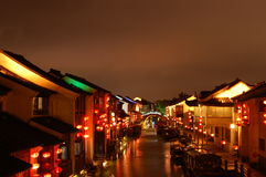 The Typhoon Night Of XiTang Town Royalty Free Stock Images