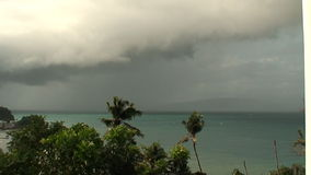 Typhoon Peipah bring heavy clouds on the sky in the Philippines stock footage