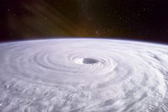 Free Typhoon. Satellite View. Stock Photography - 129315852