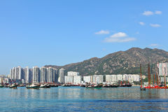 Typhoon shelter in Hong Kong Stock Photo