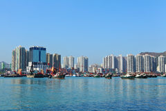 Typhoon shelter in Hong Kong Stock Photography