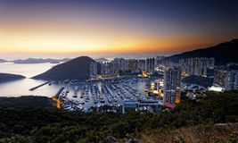 Typhoon Shelters in hong kong Stock Photography