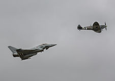 Typhoon and Spitfire Royalty Free Stock Photography