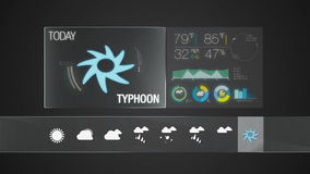 Typhoon, Weather icon set animation. Weather icon set animation(included alpha&#x29 stock footage