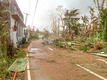 Typhoon Yolanda Haiyan 2013 Stock Photography