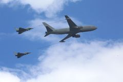 2 Typhoons refueling in the air Royalty Free Stock Images