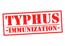 TYPHUS IMMUNIZATION. Red Rubber Stamp over a white background Stock Photography