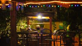 Typic karibisk bar, i Puerto Rico arkivfoto
