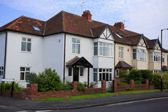 Typical 1930s semi detatched house. With Bay Window, in Bristol, England Royalty Free Stock Images