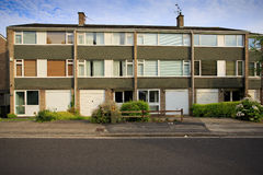 Typical 1970s terrace houses Stock Images