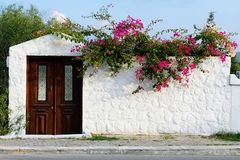 A typical Aegean stonehouse's facade royalty free stock photography
