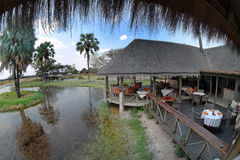 A typical African camp / lodge in Africa Royalty Free Stock Photography