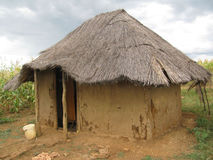 Typical African mud  and  dagga hut  dwelling Royalty Free Stock Images