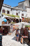 Typical afternoon scene on bazaar street of Mostar Stock Image
