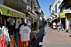 Typical  alley in Limassol Royalty Free Stock Photography