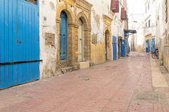 Typical alley in a Moroccan town Royalty Free Stock Photos
