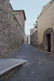 Typical alley to Agropoli village, Italy Royalty Free Stock Images