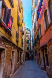 Typical alleyway in Venice, Italy Royalty Free Stock Photo