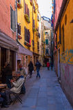 Typical alleyway in Venice, Italy Stock Photos