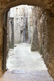 Typical alleyway in a village in France Royalty Free Stock Photos