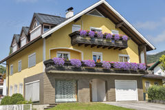 Typical Alpine architecture in Austria Stock Image