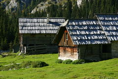Typical alpine hut Stock Photography