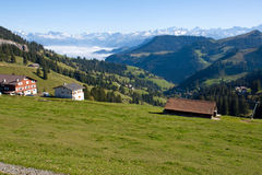 Typical alpine landscape Royalty Free Stock Image