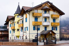 Typical alpine police barracks, Italy Royalty Free Stock Photo