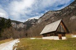 Typical alpine village, Bohinj, Slovenia Stock Images