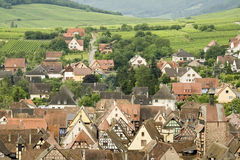 Typical Alsace village. France Stock Photo