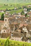 Typical Alsace village. France Royalty Free Stock Images